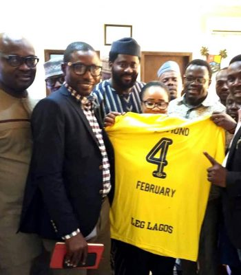 Endorsement of LEG LAGOS CHALLENGE by the Honourable Members of Lagos State House of Assembly.